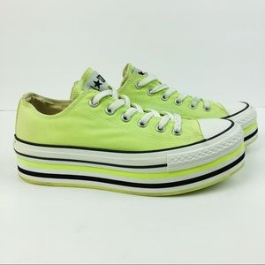 Converse Platform Lime Green Sneakers
